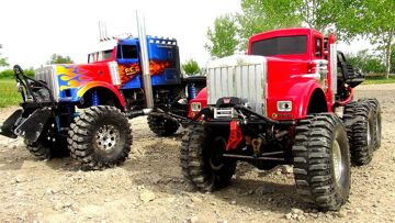 WHO CAN PULL MORE?! OPTiMUS vs BiG RED – iNSANE 6X6 RC TRUCKS Battle THE JUDGE   RC ADVENTURES