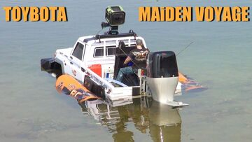 RC ADVENTURES – TOYBOTA – BBC TOP GEAR TRUCK BOAT TRiBUTE – Toyota LC70 UTE w/ Oversized Outboard