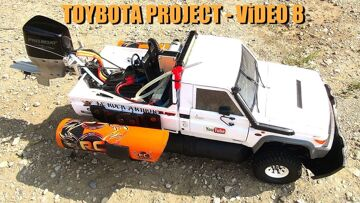RC ADVENTURES – TOYBOTA PROJECT – PT 8 – BBC TOP GEAR TRiBUTE BUiLD – TOYOTA LC70 TRUCK-BOAT