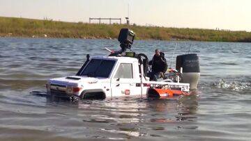RC ADVENTURES – TOYBOTA PROJECT -TOP GEAR TRUCK BOAT TRiBUTE! PT9