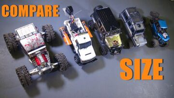 RC AVENTURI – 15 Size Comparisons – 1/8th Scale Cragsman Jeep JK from Traction Hobby