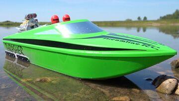UPGRADED 6S V2 THRASHER XL JOLLY GREEN JET BOAT w/ BiLGE PUMP from StreamlineRC! | PRZYGODY RC