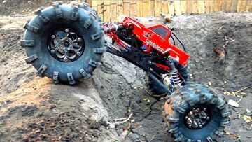 MASSIVE TIRES + Toyota Body ='s a MONSTER TRUCK! MOA in the Backyard Scale Park | RC ПРИКЛЮЧЕНИЯ