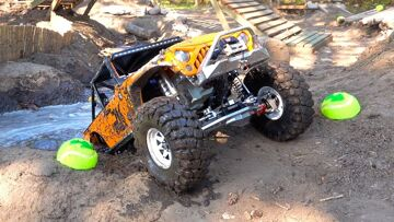 MUDDY JK MAX JEEP – GOING DEEP in the Backyard Scale Park   RC ADVENTURES