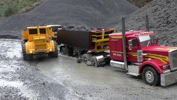 HEAVY CONSTRUCTION SITE | RC KIROVETS K700 heavy machine | KIROVETS K700  6X6 l RC POWER !