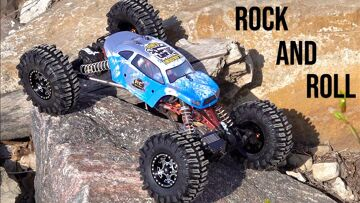 """INCREDiBLE """"XR10 ROCK MACHiNE"""" can LOCK-OUT AXLES & CONFORM to Near-VERTiCAL Terrain 