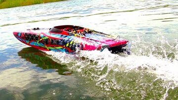 """TRAXXAS M41 40"""" Speed Boat THRiLL RiDE – 6S Lipo POWER! 