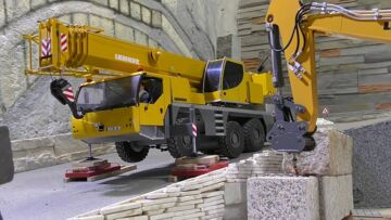 Heavy RC Vehicles! Strong Volvo Loader! Big RC Dump Truck in Action!