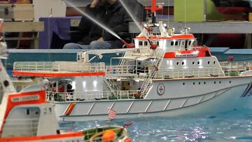 LARGE RC SCALE MODEL SHIP COLLECTION ON THE POOL / Intermodellbau Dortmund 2016