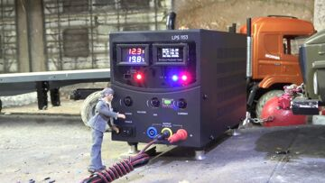 NEW RC HIGH VOLTAGE GENERATOR! RC GENERATOR WITH  18000 mAh! POWER MACHINERY