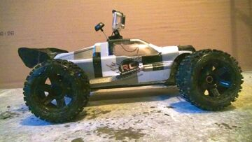 """RC ADVENTURES – CowRC, Setup FPV with a GOPro 3 Camera, & Losi 8T """"First Person View"""" Action"""