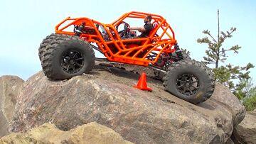 RC ADVENTURES – TANGO – Rear Wheel Steering 🔥 Backyard Rock Course