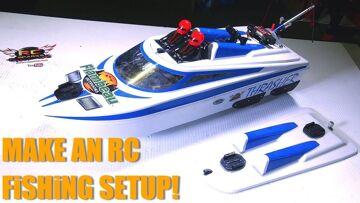 PRZYGODY RC – MAKE an RC FiSHiNG SETUP! Również – FLOATiNG RAMP DIY – THRASHER JET BOAT