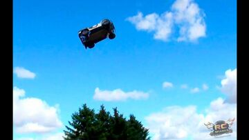 RC ПРИКЛЮЧЕНИЯ – LOSi 5ive T (5T) 4X4 25 Foot Jumps – & REDCAT XBe