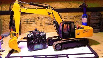 RC ADVENTURES – 1/12th Scale 4200xl Excavator – Hydraulic Pump ESC Upgrade – Radio Controlled