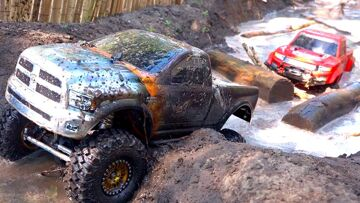 3 TRUCKS GET MUDDY! FiRST TiME ON COURSE as a FAMiLY! #ProudParenting | RC 冒险