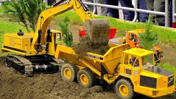 FANTASTIC RC CONSTRUCTION SITE IN SCALE 1:16 WITH AMAZING RC MODEL MACHINES