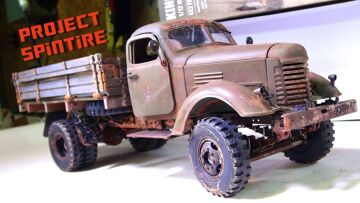 """RC ADVENTURES – Project: """"SPiNTiRE"""" – FiNAL PRODUCT: RUST & AGiNG """"How To"""" PT2 – 2WD CA10 WORK TRUCK"""