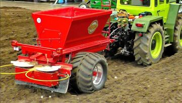 AMAZING RC MACHINE !!! MODEL TRACTOR MB-TRAC 1600 TURBO WORKING HARD WORK ON A FIELD