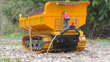 RC DUMP TRUCK! 30t TRACK DUMPER! AMAZING AND STRONG RC MACHINES FOR KIDS! RC LIVE ACTION