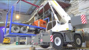 SCANIA 6X6 AGRAR TRUCK! lOAD FOR THE SHIPING TO LUMMERLAND! LRT 1100 RC CRANE TRUCK