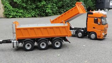 CEL MAI BUN DIN RC – AMAZING 8X8 TIPPER AND THREE AXLE TRAILER – FROM THICON MODELS !