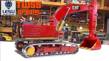 """项目: JOHNSON"" aka ""The Big One"" – LESU CAT 374FL Kit Build PT 4 – TWSS SPECIAL | RC 冒险"