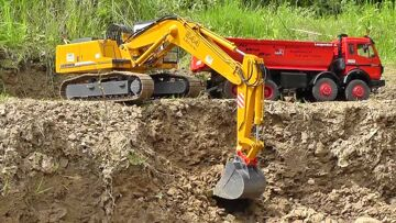 RC CHANTIER L BIG MINE l RC MACHITES AT WORK l TIPPERS AND DUMPERS AND MAN lRC LIVE ACTION
