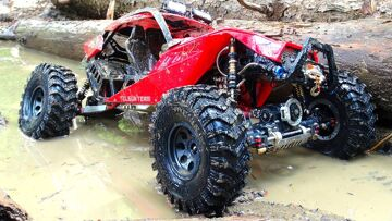 RC 冒险 – EPiC CAPO ACE 1 4X4 gets MUDDY! Great Trail Performance