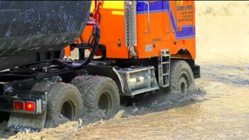 COOL RC TRUCK IN THE MUD AND SLUSH! BIGGEST RC CONSTRUCTION SITE AND COOL MODELS! RC MODEL IN ACTION