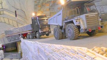 HEAVY TRANSPORT! 70t STONE BLOCKS FOR THE NEW PARKING AREA! RC LIVE ACTION