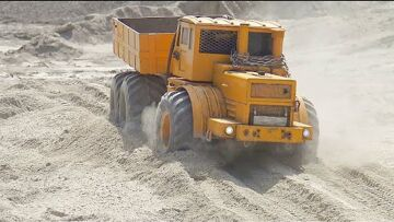 WORLD OF RC VEHICLES! MAZ 537G! VOLVO A45G! VOLVO L250GS! BIGGEST RC CONSTRUCTION SITE