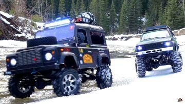 RC ADVENTURES – Gelände II 4×4 Defender D90 & Toyota Hilux Trail Finder 2 – Icy Scale RC Trucks
