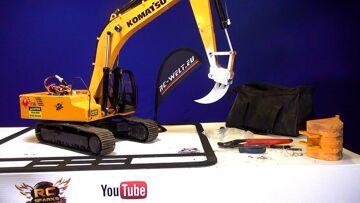 """RC AVENTURI – de """"FANG"""" Earth Ripper & Quick Coupler – Digger 4200XL Excavator"""
