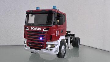 SCANIA l FIRE LADDER DLK 23/12 l SCANIA RC MODEL l FIRE TRUCK