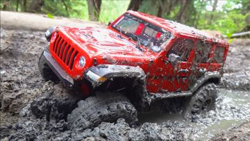 JEEP JLU gets STUCK in THICK MUD! 2020 AXIAL PORTAL & DIG 4×4 Trail Ready JEEP – RTR | RC ADVENTURES