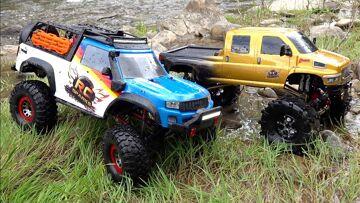RC ADVENTURES – TWO TRUCKS GO WHEELiN'! MOE's FRESH LiFTED MUDDY Traxxas TRX-4 & OVERKiLL 2020 4×4 !