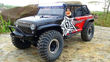 RC ADVENTURES – Rigid Industries Jeep JK – Axial SCX10 4×4 Radio Control Truck