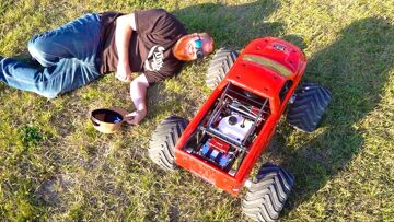 RAMINATOR – MEN and a MEGA TRUCK : LARGEST GAS POWERED MT! 49cc | PRIMAL RC ADVENTURES