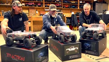 SURPRISING FRIENDS w/ 3 NEW TRAIL TRUCKS! TRACTION HOBBY CRAGSMAN 1:8 JEEP & RAPTOR   RC ADVENTURES