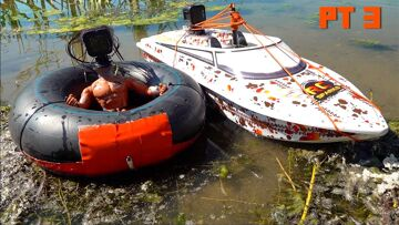 """I """"MADE"""" a """"CAMERA-MAN"""" the sent him TUBING BEHIND a POWERFUL JET BOAT – THRASHER 