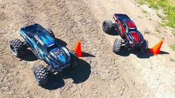 RC ΠΕΡΙΠΈΤΕΙΕς – Let's RACE! Dual Traxxas X-Maxx – Slalom Competition