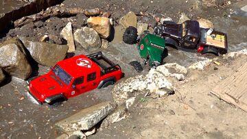 3 GUYS WHEELiN' MUDDY TRUCKS in LARGE BACKYARD TRAiL PARK! Radio Controlled Vehicles | RC ADVENTURES