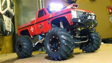 RC ADVENTURES – CHEVY Mega Mud Truck – 1/10th Scale Electric Dual Motor Setup w/ Steel Drive