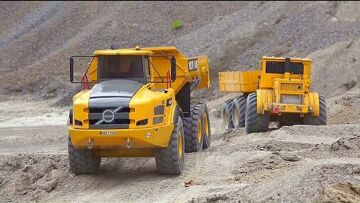 HEAVY RC VEHICLES TRUCK 2020! MEGA BIG CATERPILLAR 374F IN ACTION! VOLVO A45G STONE LOAD