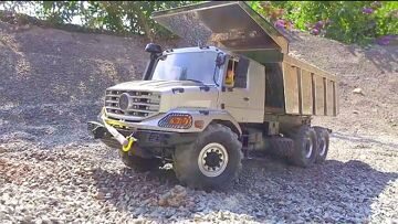 MERCEDES ZETROS 6X6 RC! NEW RC TIPPER OVERLAND IN ACTION! FANZTASTIC RC VEHICLES