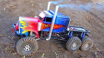 RC ΠΕΡΙΠΈΤΕΙΕς – OPTiMUS OVERKiLL – ROLL OUT! 6x6x6 BiG RiG Transformers Tribute Semi Truck