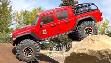 BRAND NEW ROCK SETUP! JEEP GLADiATOR RTR PERFORMS AMAZING IN 2020! AXIAL SCX10 3 4×4 | RC ADVENTURES