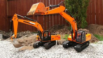 RC 冒险 – Two Earth Digger 4200XL Excavators hide Toxic Waste