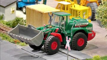MICRO RC EXCAVATOR CONSTRUCTION MACHINES IN SCALE 1:87 WITH FANTASTIC FUNKTIONALITY AND IN MOTION